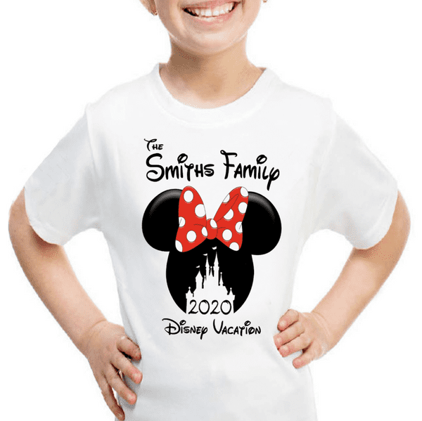 Personalised Minnie Mickey Mouse Disney 2020 Vacation Holiday T-Shirts Florida/Paris